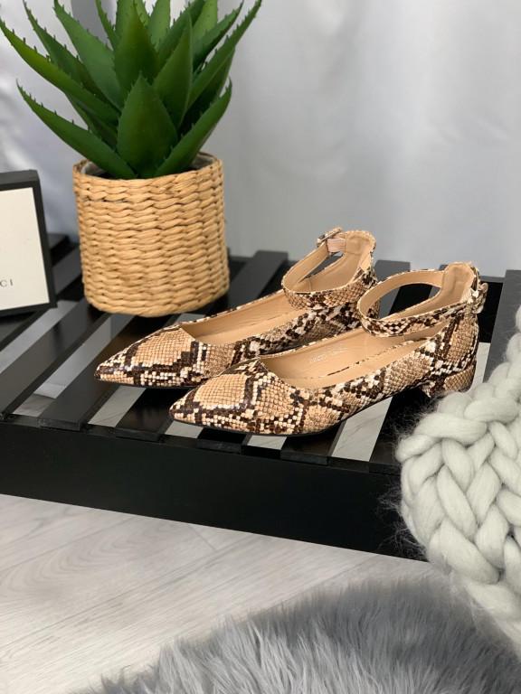 Topánky 201 hadí vzor