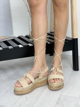 Topánky 116 béžové