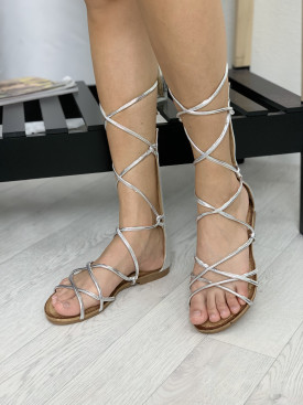 Topánky 155 strieborné