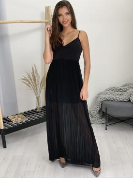 Šaty dlhé plisovaná sukňa