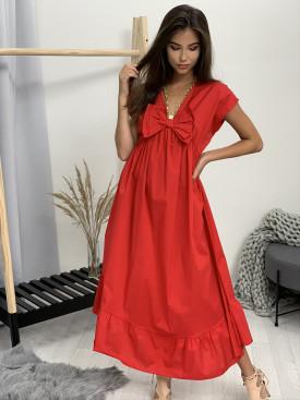 Šaty dlhé elegantné s mašľou 8771