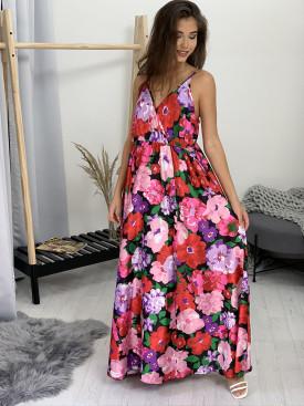 Šaty kvetované na ramieka 9972