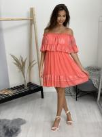 Šaty perleťové s volánom 20672