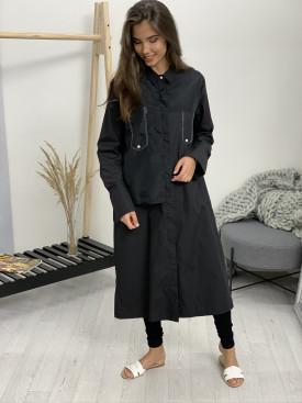 Kabát dlhý s gombíkmi