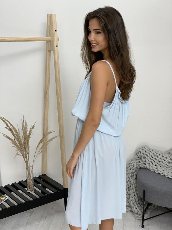 Šaty jednofarebné na ramienka 50357