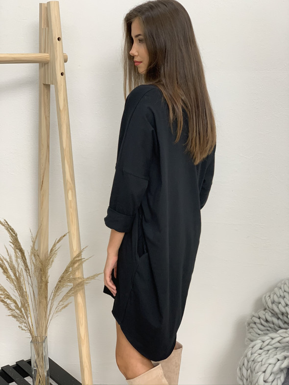 Šaty teplákové krátke dlhý rukáv