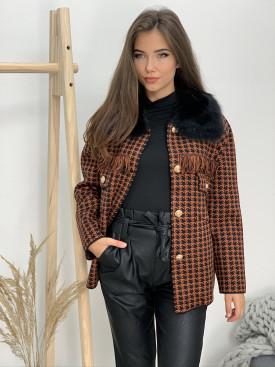 Kabátik s kožušinou pepito 3101