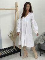 Šaty bavlnené dva gombíčky 31700