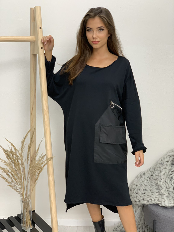 Šaty bavlnené veľké vrecko 50572