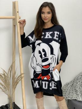 Šaty dlhý rukáv mickey mouse 3029