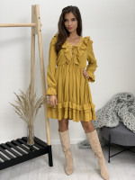 Šaty nad kolená krajkový výstrih 9975