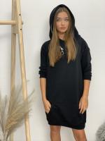 Šaty s kapucňou zips