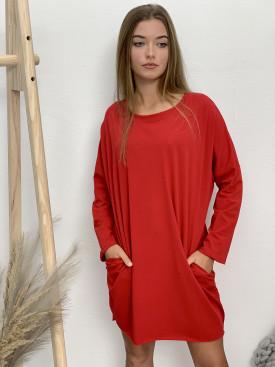 Šaty teplákové kráte dlhý rukáv