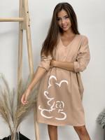 Šaty teplákové mickey 8976