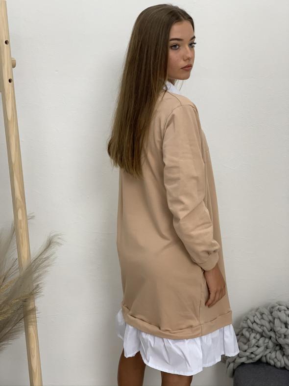 Šaty teplákové s límčekom 9002