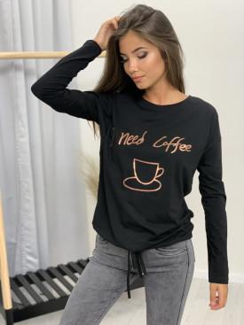 Tričko dlhý rukáv need coffee