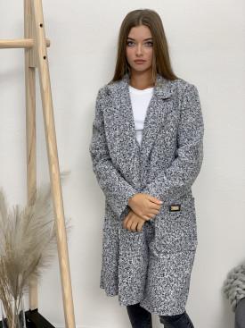 Kabát Fashion jednofarebný