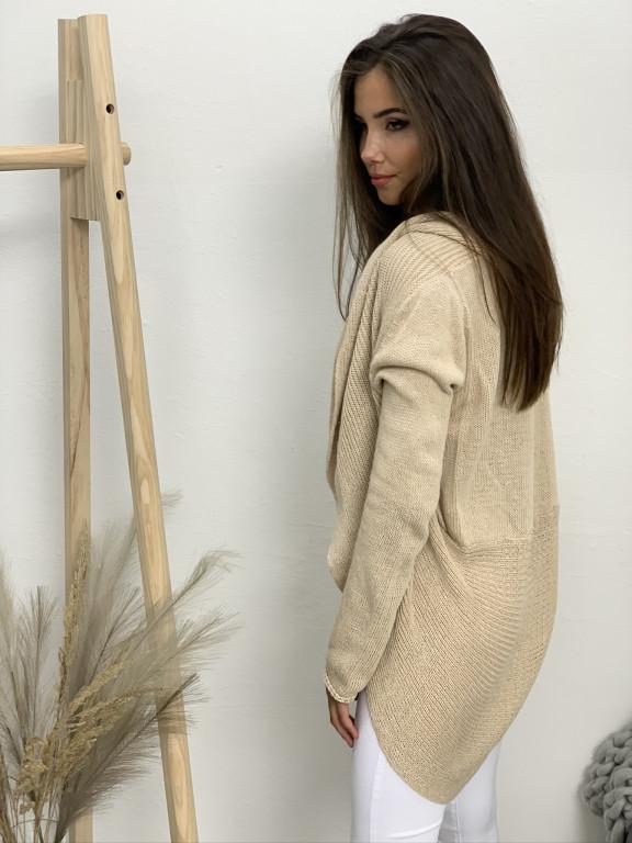 Kardigan svetrový s kapucňou