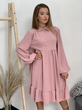 Šaty jednofarebné midi 31738
