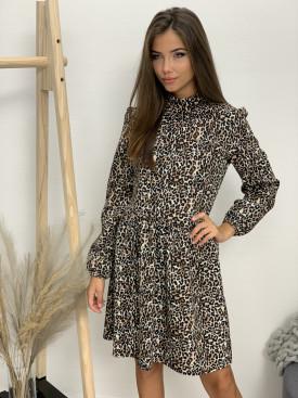 Šaty ku krku gepard  7018