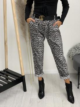 Nohavice s opaskom leopard