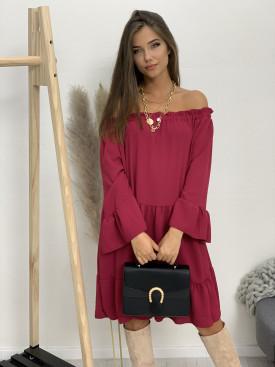 Šaty jednofarebné na ramená 2210