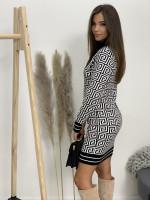Šaty úpletové labyrint 95123