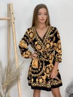 Šaty zlaté vzory 876