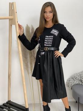 Šaty pod kolená Fragile 2281
