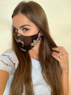 Bavlnené rúško dámske maskáčové