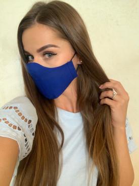 Bavlnené rúško jednofarebné  kráľovská modrá