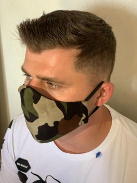 Bavlnené rúško pánske maskáčové 2
