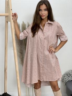 Šaty košeľové kocka 83558