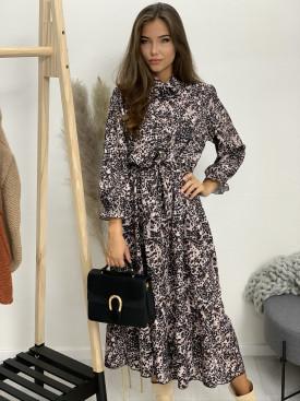 Šaty leopardí vzor 5355