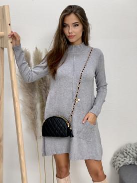Šaty svetrové dve vrecká 9430
