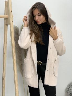 Kabát dve vrecká s kapucňou