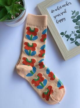 Ponožky kvetinky