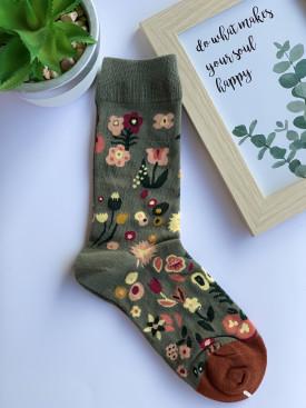 Ponožky kytičky