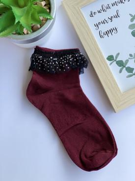 Ponožky trblietkový volánik