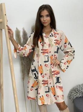 Šaty košeľové ženy 8991