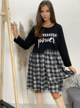 Šaty po kolená FEMME POWER