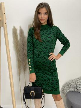Šaty úpletové leopardí vzor