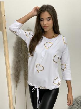 Tričko dlhý rukáv zlaté srdcia