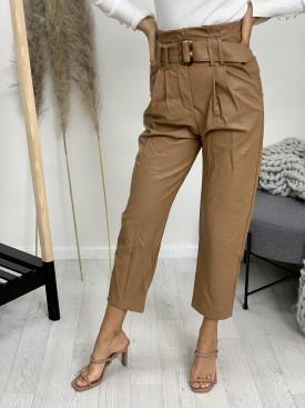 Nohavice koženkové s opaskom 65542