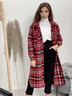 Kabát dlhý károvaný 25159
