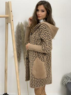 Kabát s kapucňou labyrint 2