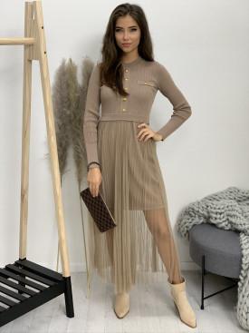 Šaty svetrové s tylovou sukňou 89900