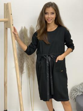 Šaty teplákové fashion dve vrecká