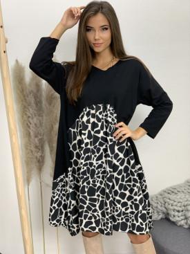 Šaty teplákové giraffe