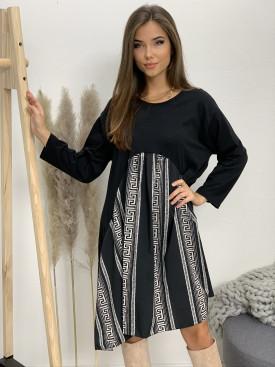 Šaty teplákové labyrint